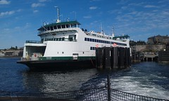 The then brand new M/V Salish, seen from the Chetzemoka after departing Port Townsend.