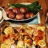 lemon chicken + veg
