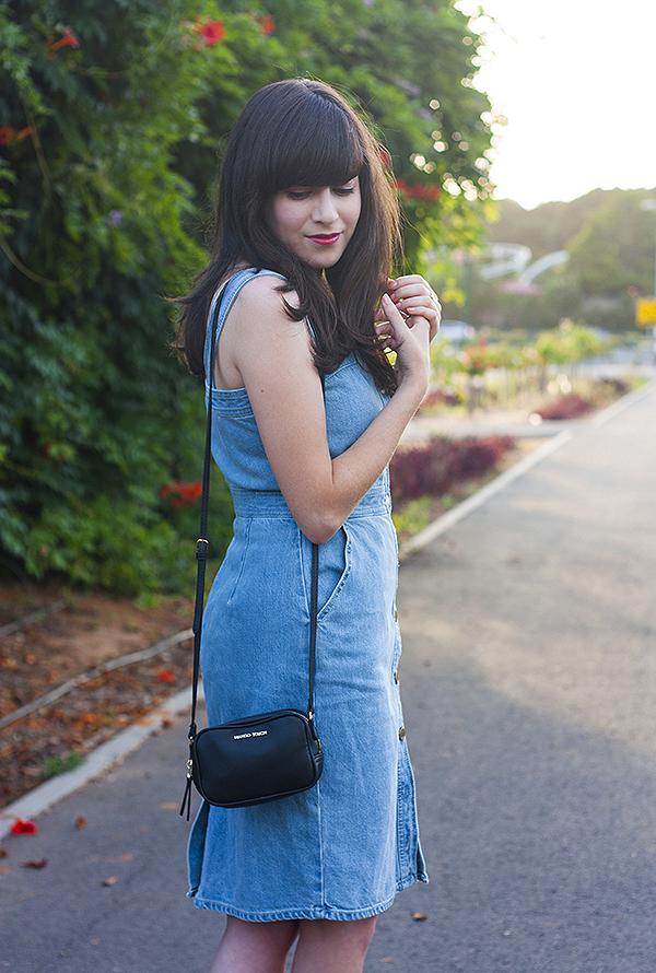 שמלת ג'ינס, שמלת ג'ינס גאפ, אפונה בלוג אופנה, denim dress, stella mccartney denim dress