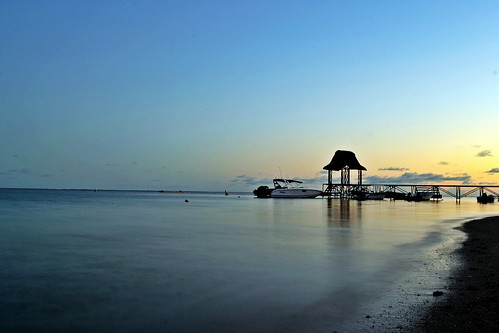 morning sea beach sunrise dock nikon long exposure patio mauritius d3100