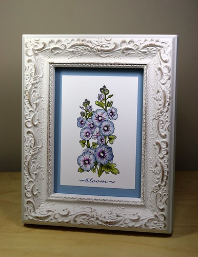 Hollyhocks Home decor frame