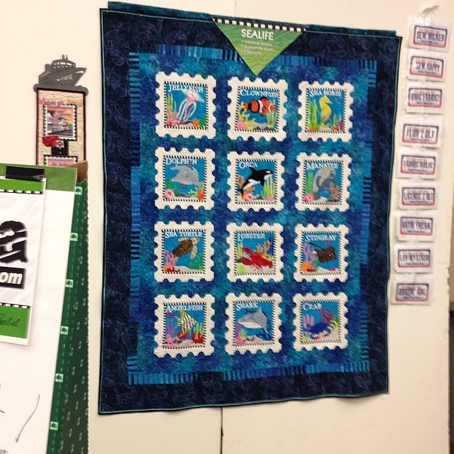 Super cute sea life stamp quilt by Zebra Patterns #quiltmarket Flickr - Photo Sharing!