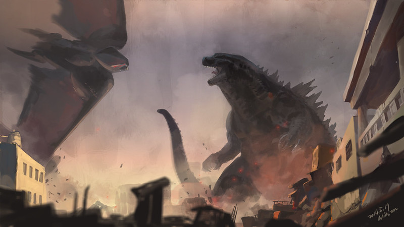 Godzilla vs MUTO fan art