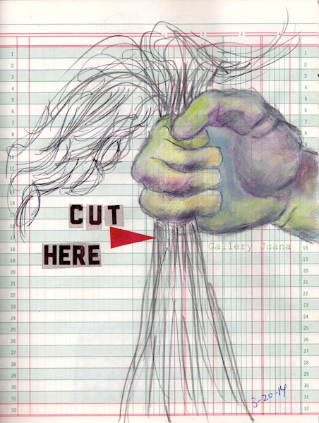 cut here journal page by gallery juana