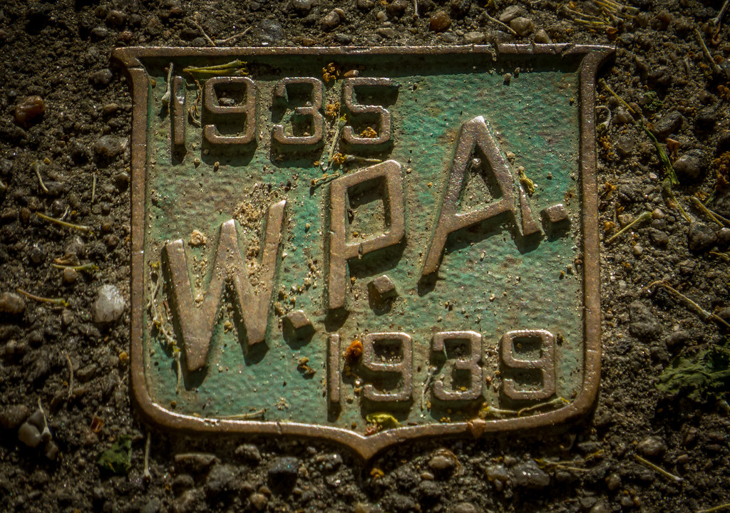 WPA plaque at Prospect Terrace