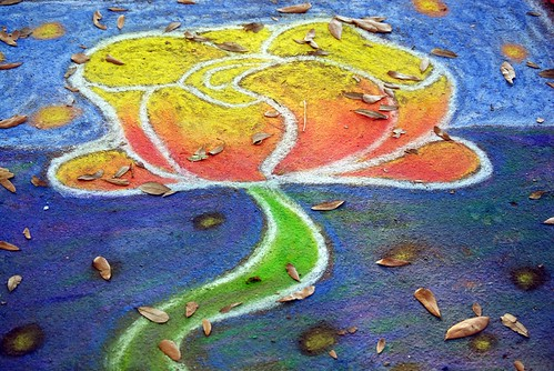 SCAD Sidewalk Art Festival Chalk Art