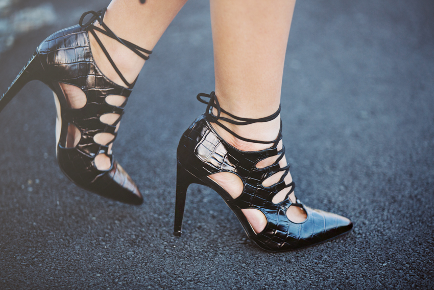 The Mode Collective Lace-Up Point Heels