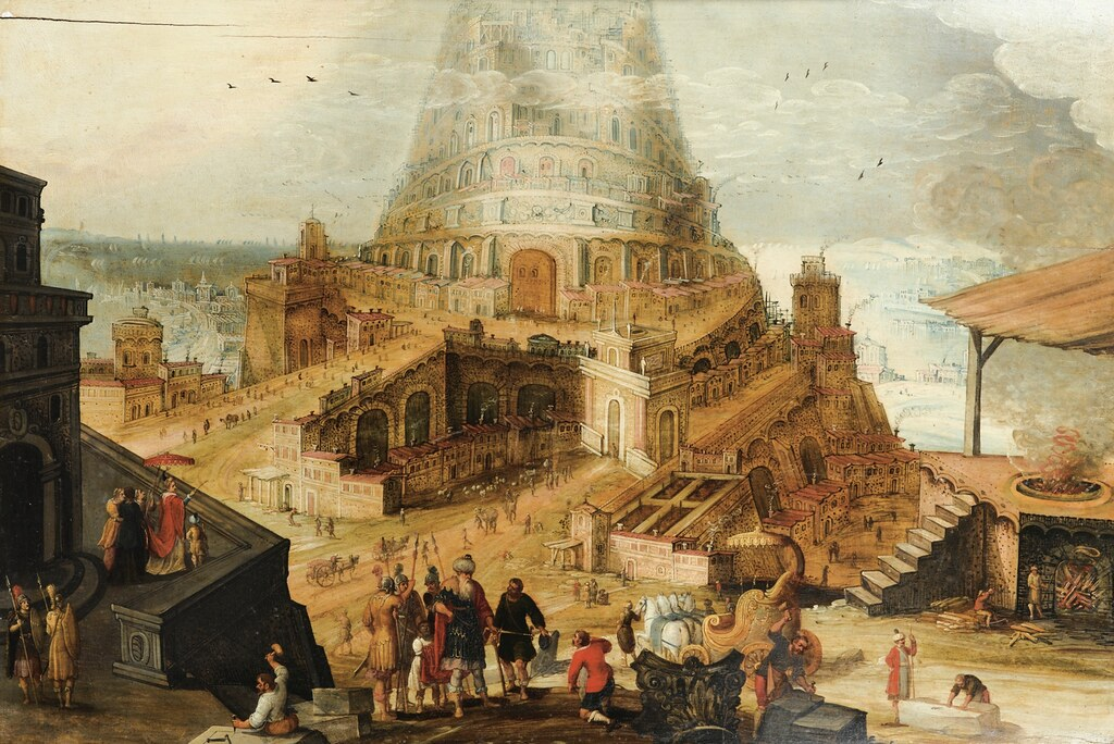 [ C ] Hendrick van Cleve III - The Babel Tower  I