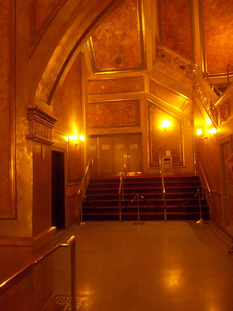 Leaving the Elgin and Winter Garden Theatres