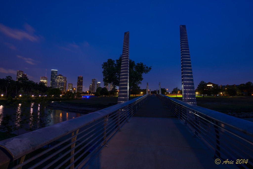 Pedestrian Bridge on Buffalo Bayou Park Hike and Bike Trail