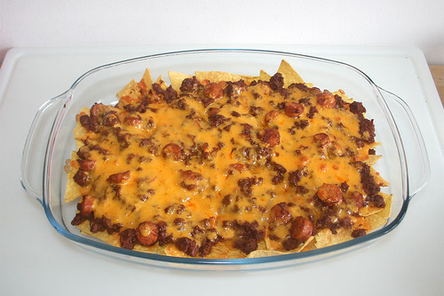40 - Chili Dog Nachos - Fertig überbacken / Finished gratinating