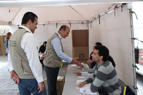 OAS Mission to the Elections in Colombia Visited Voting Centers