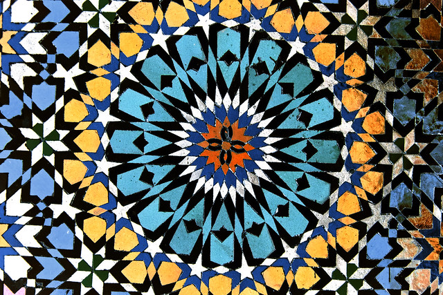 Geometric Tiles, Mosque of Moulay Idriss, Morocco