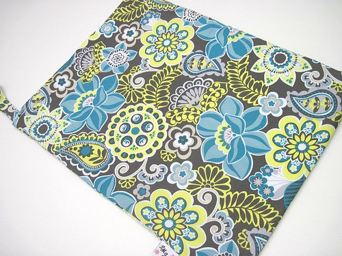 Blue, Gray and Citron Wet Bag