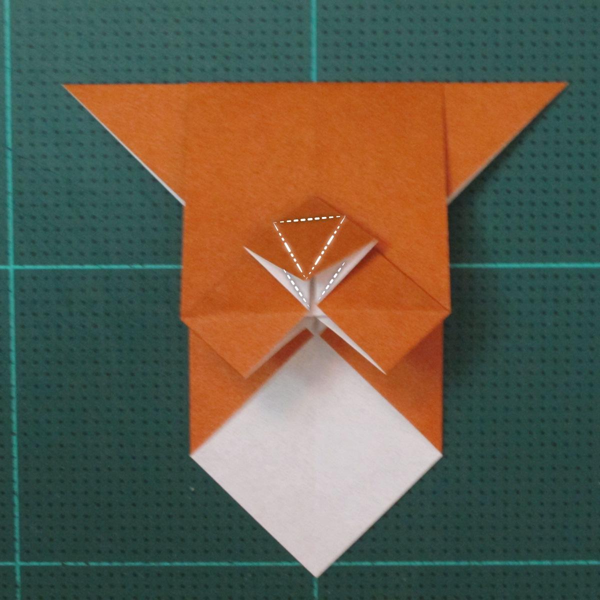 วิธีพับกระดาษเป็นที่คั่นหนังสือรูปหมาบูลด็อก (Origami Bulldog Bookmark) 011