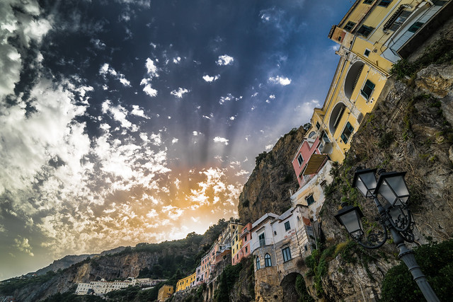 Sunset in Amalfi, Campania, Italy
