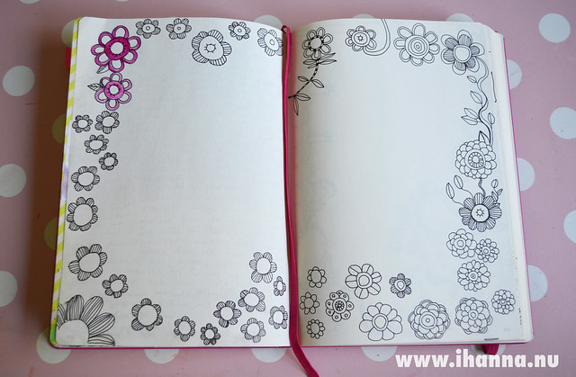 Diary Peek: Flower Border Doodle, by iHanna of www.ihanna.nu