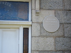 Photo of William Alexander yellow plaque