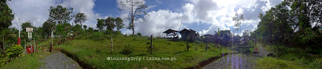 Panoramic View from outside the gate. DDD Habitat Inc., in Lorega, Kitaotao, Bukidnon