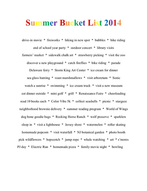 SummerBucketList2014