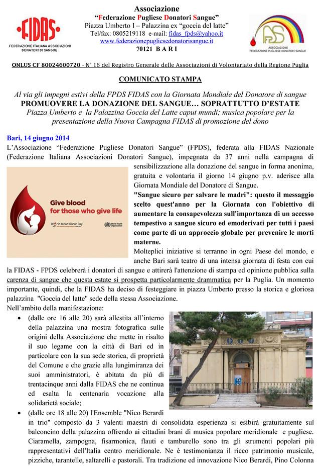 Comunicato_Campagna_Estiva_FIDAS2014-1