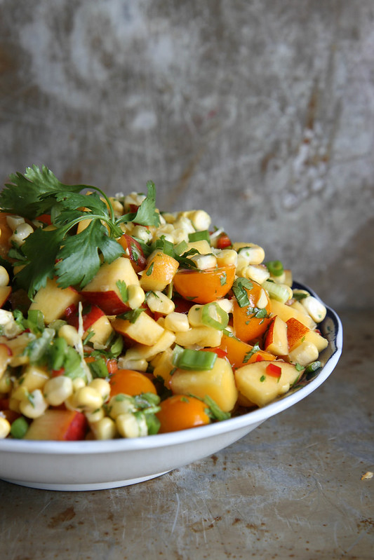 Peach and Corn Salsa