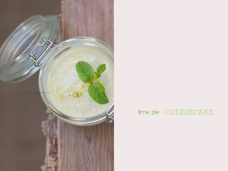 lime pie cheesecake in jar