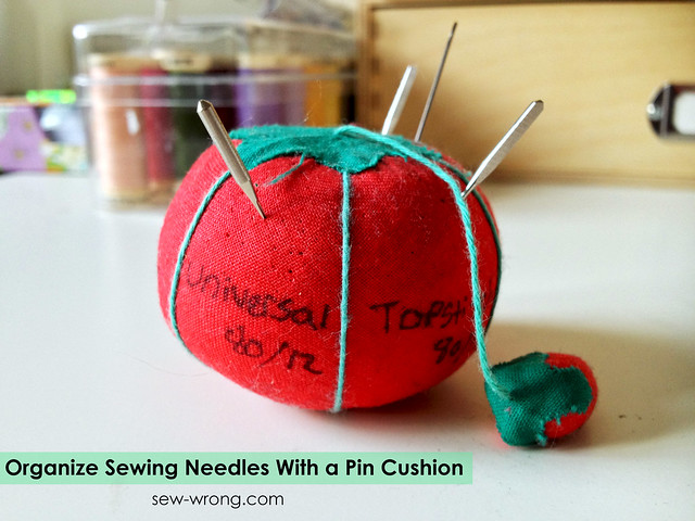 needle pincushion text