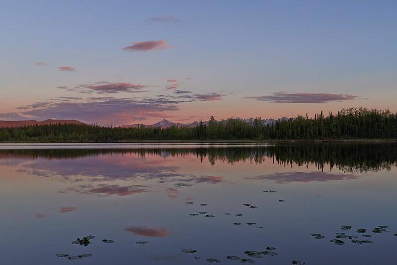 Midsummer-night Sunset at Snag Lake - Yukon