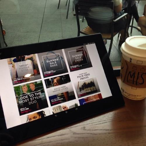 Xperia Z2 Tablet、タブレットだからスキマ時間にさっと取り出して楽しめる。 #Xperiaアンバサダー