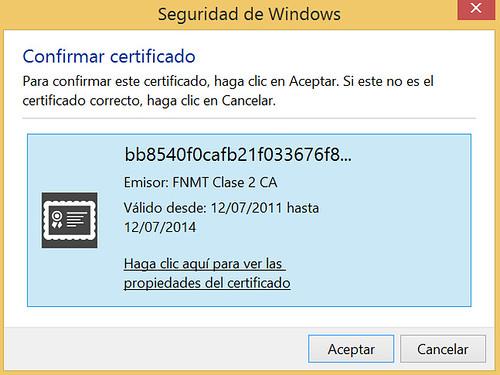 Renovar certificado - Solicitud del certificado