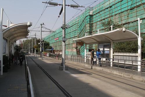 Pair of platforms at the Zhangjiang Hi-Tech Park terminus