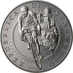 San Marino Gino Bartali coin obverse