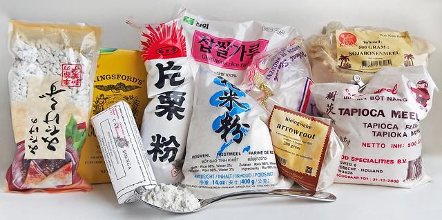 Bindmiddelen, maïzena, aardappelzetmeel, pijlwortel, tapioca, wat is het verschil
