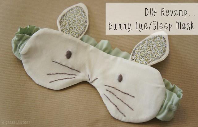 diy bunny sleep eye mask eight and sixteen