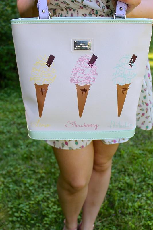 Lulu Guinness ice cream tote