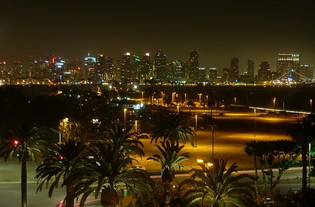 Nighttime San Diego Skyline