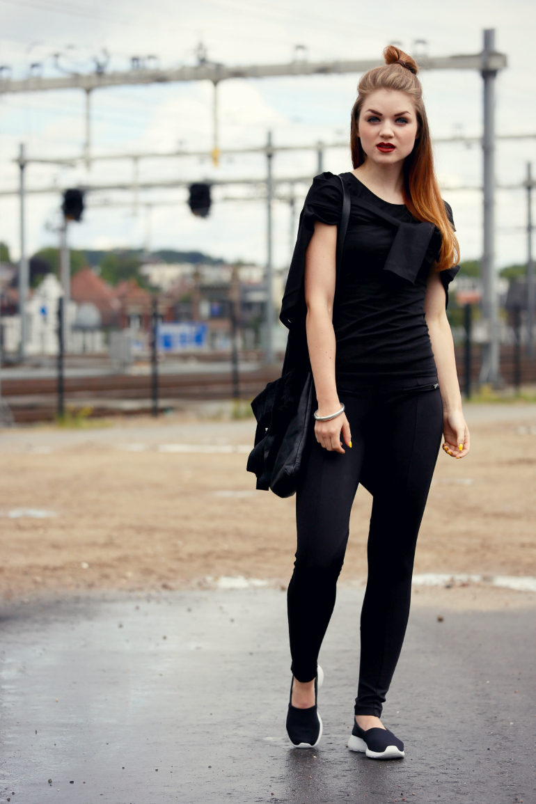 zwarte outfit