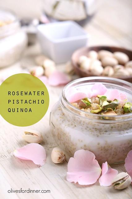 Rosewater Pistachio Quinoa