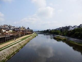 四条大橋から見た鴨川