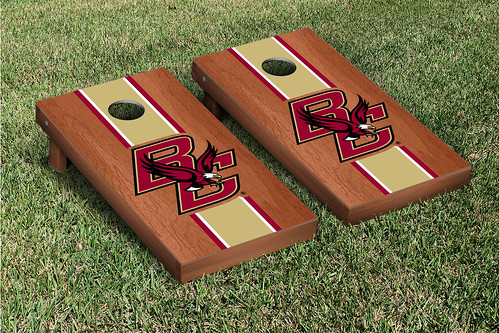 Boston College Eagles Cornhole Game Set Rosewood Stained