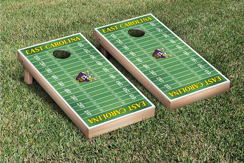 East Carolina University ECU Pirates Cornhole Game Set Football Field