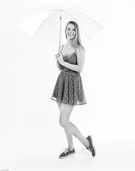 Jenny with an Umbrella