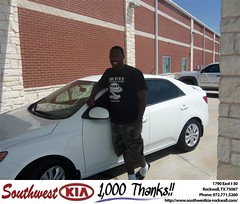#HappyAnniversary to Sharon Roberts on your 2013 #Kia #Forte from Richard Branch at Southwest KIA Rockwall!