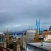 Melbourne Skyline Panorama - Storm Front 31/7/14