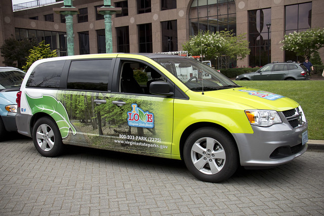 This vehicle shows off a Virginia State Park trail