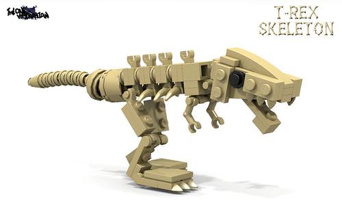 LEGO T-Rex skeleton