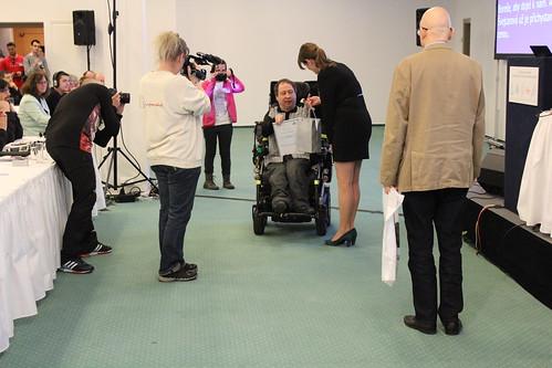 Předávání cen vítězům literární soutěže Internet a můj handicap