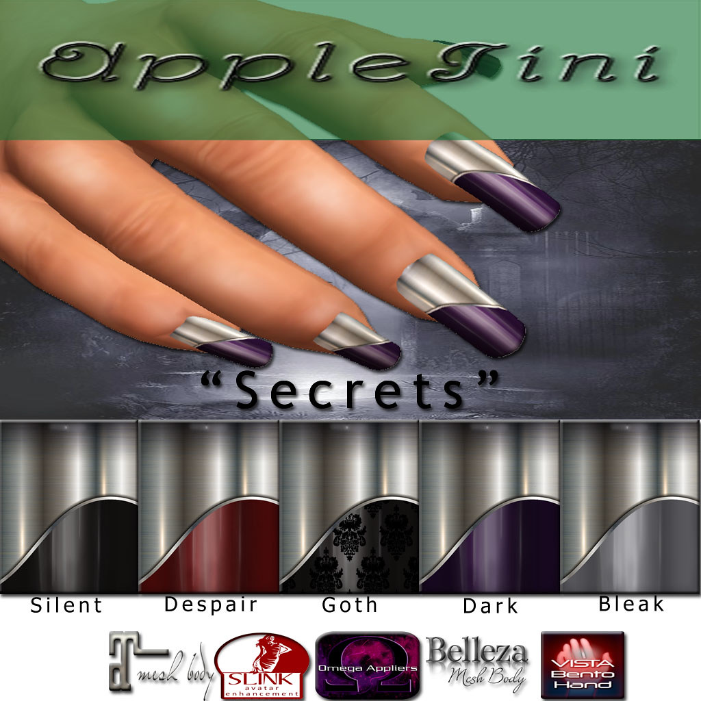 AppleTini Secrets Nails - SecondLifeHub.com