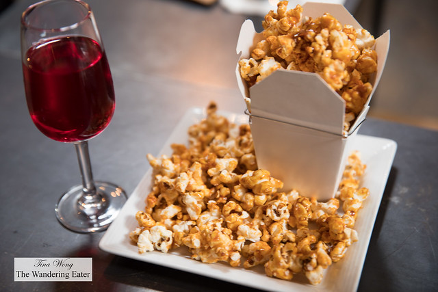 Persephone's Garden Milk Punch and Spicy Caramel Popcorn